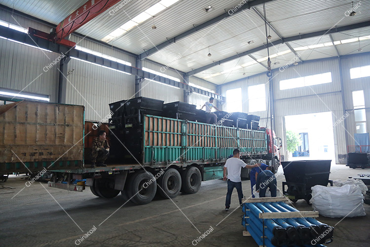 China Coal Group Sent A Batch Of Bucket-tipping Mine Cart To A Mine In Nanjing